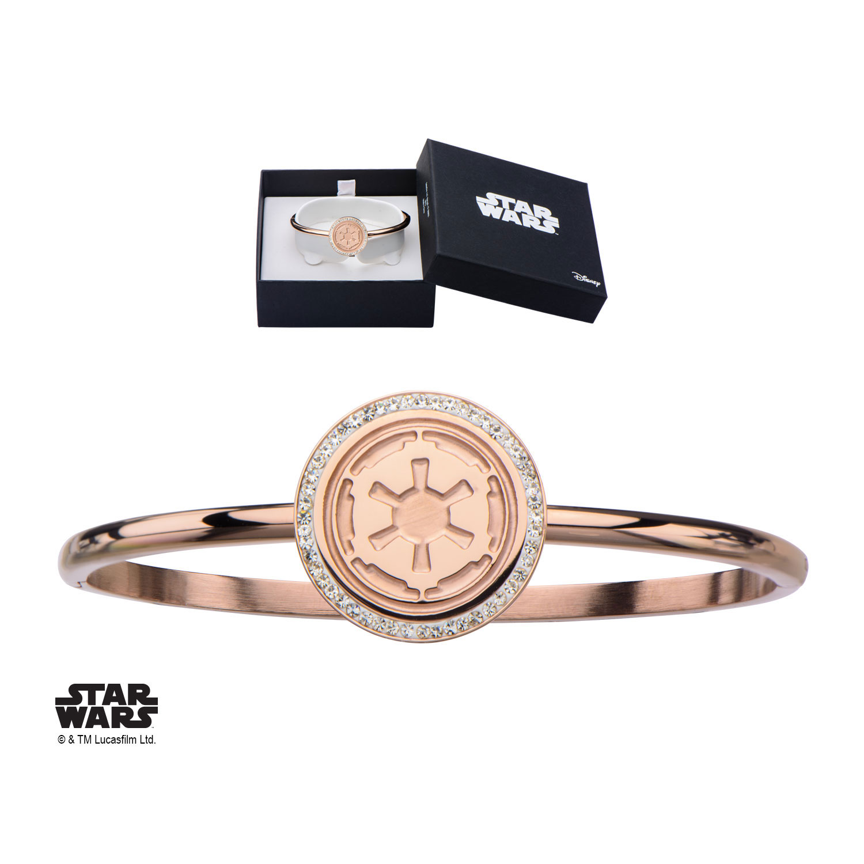 Star Wars Cubic Zirconia Bangle Bracelet Galactic Empire Symbol