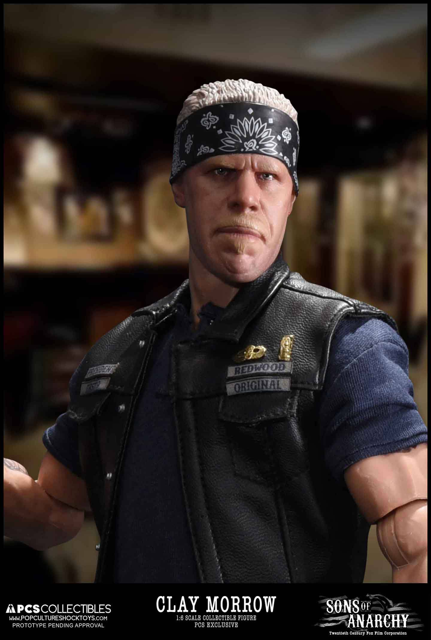 sons of anarchy action figure 1 6 clay morrow exclusive 31. Black Bedroom Furniture Sets. Home Design Ideas