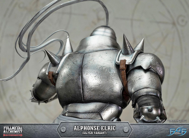 Al Elric fullmetal alchemist brotherhood statue alphonse elric silver variant 55 cm  - animegami store