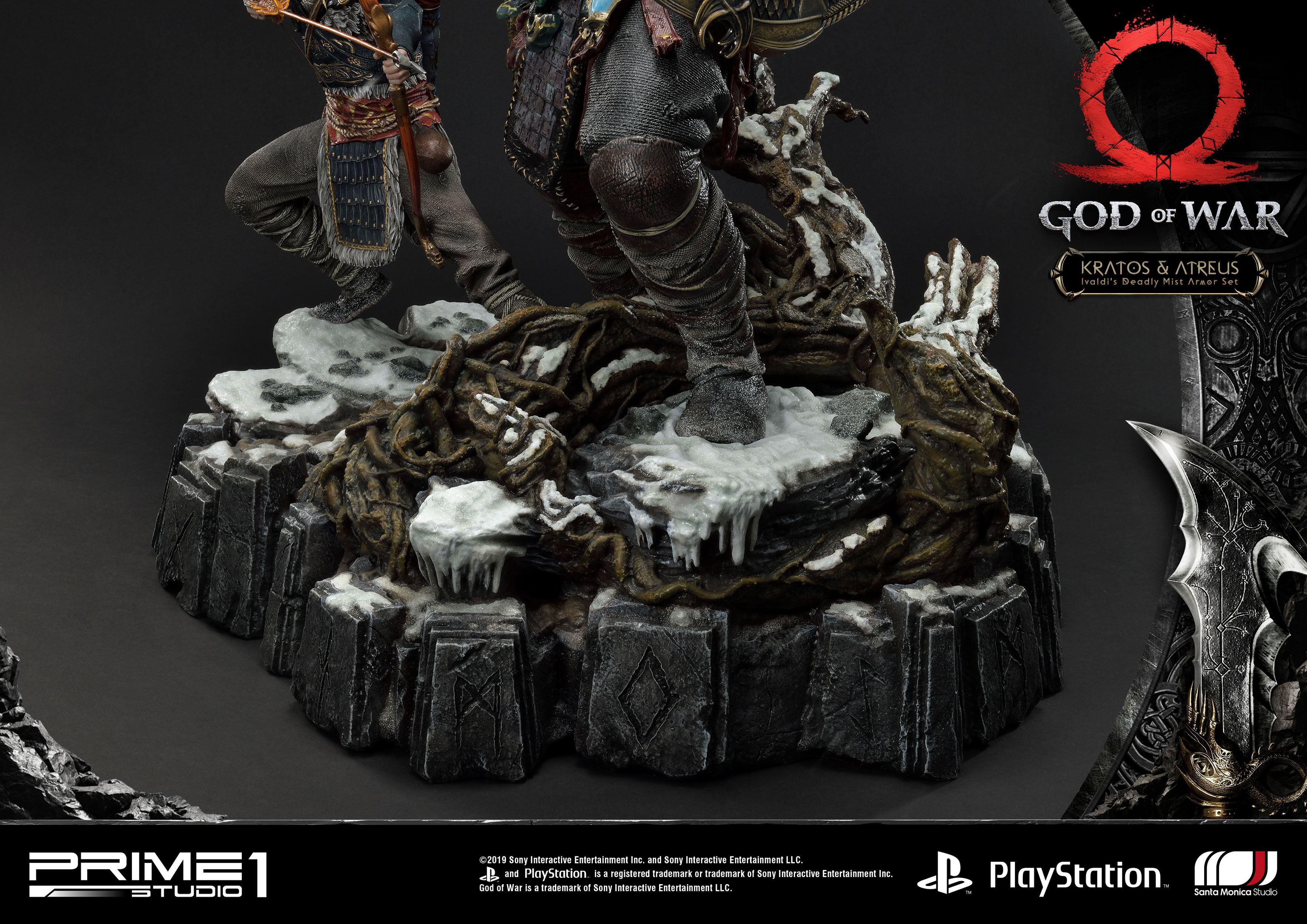 God Of War 2018 Statue Kratos Atreus 72 Cm Animegami Store