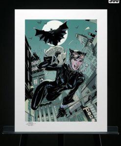 DC Comics Art Print The Getaway: Batman & Catwoman 46 x 61 cm - unframed