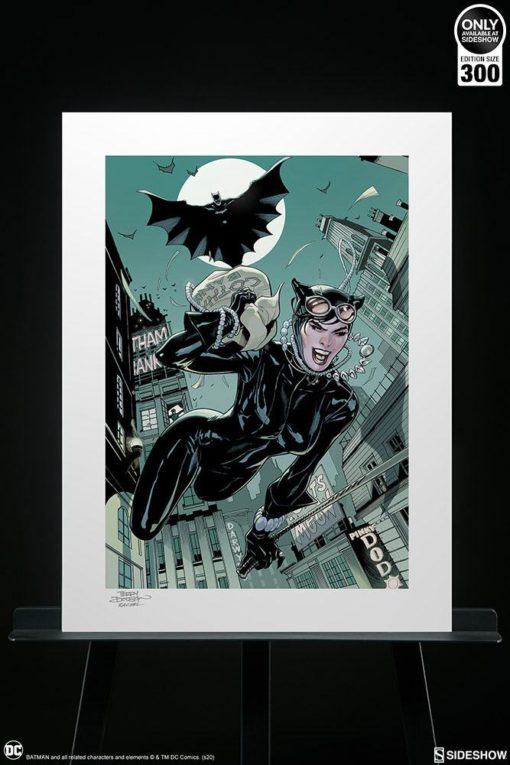 DC Comics Art Print The Getaway: Batman & Catwoman 46 x 61 cm – unframed