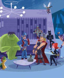 Marvel Art Print Party at Avengers Tower 43 x 66 cm - unframed