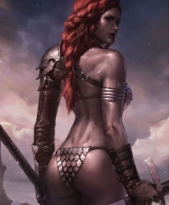 Red Sonja Art Print Birth of the She-Devil (Pre-Battle Version) 46 x 61 cm - unframed