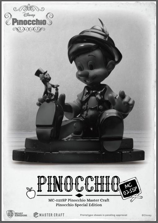 Disney Master Craft Statue Pinocchio Black & White Special Edition 27 cm