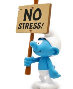 The Smurfs Collector Collection Statue Smurf wit a Sign No Stress! 18 cm