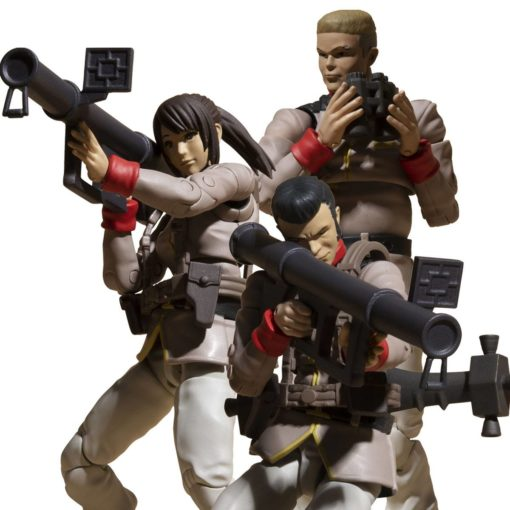 Mobile Suit Gundam G.M.G. Action Figure 3-Pack Earth Federation Army Soldiers 10 cm