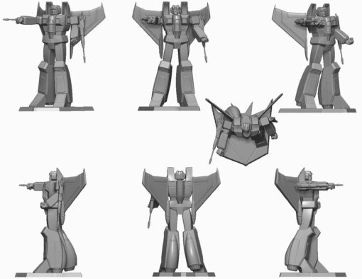 Transformers PVC Statue Starscream 23 cm