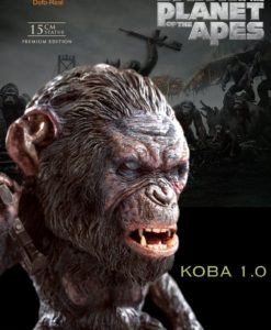 Dawn of the Planet of the Apes Deform Real Series Soft Vinyl Statue Koba Gun Ver. 15 cm